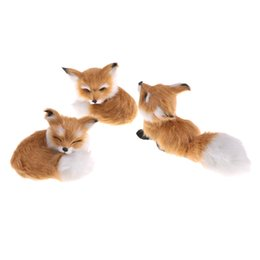 $enCountryForm.capitalKeyWord UK - Hot Sale Brown Simulation Fox For Home Decoration Birthday Gift Polyethylene Furs Squatting Model Toys