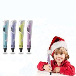 $enCountryForm.capitalKeyWord NZ - 4styles 3D Drawing Pen DIY Printer Pen Filament 1.75mm Arts 3D Printing Pen LCD Educational Gift For Kids Painting Drawing toy FFA1865