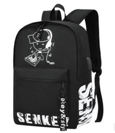 $enCountryForm.capitalKeyWord Australia - Luminous Cartoon Men Women's Teenagers School Backpack Night Lighting Bags with USB charging backpacks