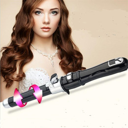 Curling Hair Rollers Australia - LCD auto rotary electric hair curler styler curling iron wand waver automatic rotating roller wave curl hairstyler salon machine