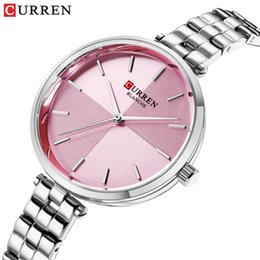 $enCountryForm.capitalKeyWord Australia - Women Watches CURREN Top Brand Luxury Stainless Steel Strap Watch Ladies Analog Quartz Wristwatch Simple Style Clock Reloj Mujer