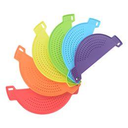 $enCountryForm.capitalKeyWord UK - Plastic Rice Beans Strainer Sifters 6 Colors Fruit Vegetable Grain Debris Filter Utility Hanging Kitchen Gadgets 2 Pieces ePacket