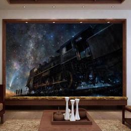 $enCountryForm.capitalKeyWord NZ - custom size 3d photo wallpaper living room mural train under the stars fairy tale picture sofa TV backdrop wallpaper non-woven wall sticker