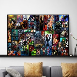 digital poster frames NZ - Marvel Super Heroes Collection Movie Posters Canvas Painting Oil Framed Wall Art Print Pictures For Living Room Home Decoracion