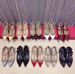$enCountryForm.capitalKeyWord Australia - Women high heels dress shoes party fashion rivets girls sexy pointed toe shoes buckle platform pumps wedding shoes ww80