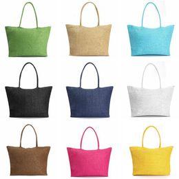 Popular Hand Bags NZ - 2019 Popular Summer Weave Woven Shoulder Big Women Messenger Straw Bag Hand Beach Tote Bags Handbag free fast shipping in stock