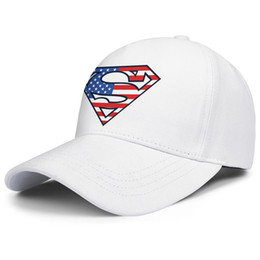 competitive price 80bff d11de Superman Logo S Shield American Flag Paint white mens and womens trucker cap  ball cool fitted Hipster hats