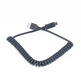 coiled usb cables UK - USB 3.0 to Type-C USB-3.1 Cable Cord Spring Coiled Charging Cable for Mobile phone