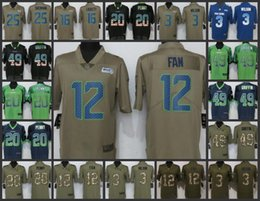 Seattle Seahawks Embroidery Men Jersey  3 Russell Wilson 12 12th Fan 20  Rashaad Penny 49 Shaquem Griffin Women Youth Football Jerseys 8e76f66ad