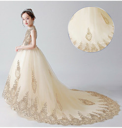 $enCountryForm.capitalKeyWord Australia - Girl Wedding Bridesmaid Dresses Summer Tulle Evening Party Princess Costume Lace Teenage Flower Girls Clothes