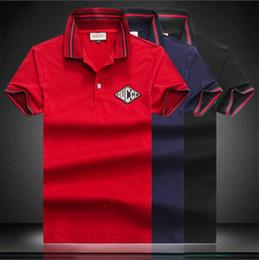a06ed2e8e 19ss New Hot style famous Brand Men short sleeves Fashion polo shirts  Casual Designer Men famous brand T-shirt GG luxury polo shirt