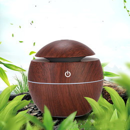 grain machines Australia - fashionUSB wood grain aromatherapy machine ultrasonic air humidifier aromatherapy mini portable atomizer LED Essential Oils Diffuser T2I5175