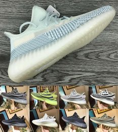 light reflective fabric Australia - Reflective Citrin Cloud White Platform Men Running Shoes Antlia Synth Lundmark Static Gid Glow Clay Kanye West Designer Trainer chaussures