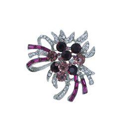 61c13133a Brooches for hijaB online shopping - baiduqiandu Crystal Flower Brooches  Female Hijab Pin Brooch for Women