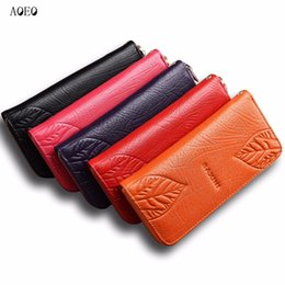 $enCountryForm.capitalKeyWord Australia - AOEO genuine leather wallet female 3D Embossing Leaves rose butterfly 4 Cartoon Large Capacity purse for women Girls Wallets