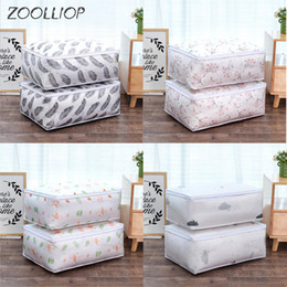 Bedding fashion quilt online shopping - Fashion hot Household Items Storage Bags Organizer Clothes Quilt Finishing Dust Bag Quilts pouch Washable quilts bags