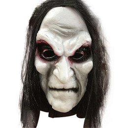 $enCountryForm.capitalKeyWord Australia - Halloween Zombie Mask Props Grudge Ghost Hedging Zombie Mask Realistic Masquerade Halloween Mask Long Hair Ghost Scary Masks