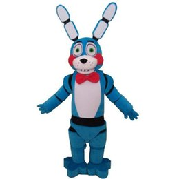 Wholesale fox mascots for sale – halloween 2019 New Five Nights at Freddy s FNAF Toy Creepy Blue Bunny mascot Costume Suit Halloween Christmas Birthday Dress Adult Size blue fox