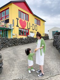 $enCountryForm.capitalKeyWord NZ - Children's wear children's parent-child mother and daughter foreign trade 2019 new summer dress Korean girls cotton T-shirt skirt