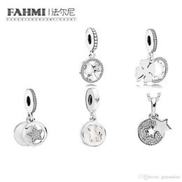 $enCountryForm.capitalKeyWord Australia - FAHMI 100% 925 Sterling Silver Charm LUCKY DAY OF LOVE HANGING Friendship Star Dangle Bead With CZ PERFECT PALS HANGING