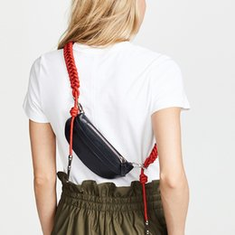 Sling Pack Fashion Australia - Women Chest Bags Fashion Weaving Belt Messenger Bag Casual PU Leather Sling Bag Female Zipper Phone Wallet Waist Packs