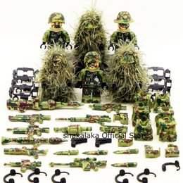 Toy Soldiers Australia - 6pcs Ghillie Suit Military Camouflage Army Special Forces Soldier War Swat Diy Building Blocks Figure Educational Toys Gift Boy Q190530