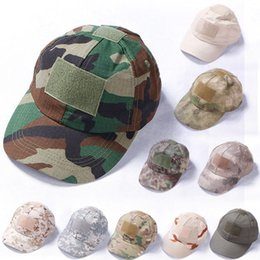 c6909f7822d7f 10 Styles Camouflage Baseball Cap Army Tactical Combat Hat Mens Women Outdoor  Hunting Cycling Hiking Camping Hats Adjustable G701F