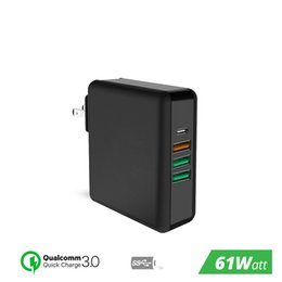 $enCountryForm.capitalKeyWord Australia - 61W USB Type C Port PD QUALITY CONTROL 3.0 4 Fast Charger Power Adapter for Macbook Pro Air HP lenovo Asus Xiaomi Huawei Laptop Tablet