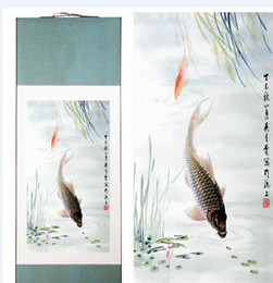 $enCountryForm.capitalKeyWord Australia - Fish Art Painting Chinese Traditional Art Painting Scroll Art Paintings Fish Swimming In The Water Painting2019061804