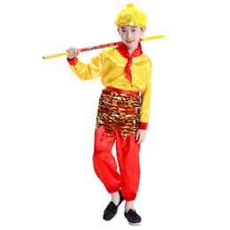 Stage Show Costumes UK - Free shipping Six one Children's day Costumes Sun Wukong Performance clothing Qitian Dasheng Journey to the West Costumes Halloween show