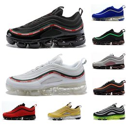3b387b7b018bf 2019 New Hot 97 Ultra OG Plus Mens Running Shoes Best Fashion Triple Black  White Blue Yellow 97s Sports Designer Outdoor Jogging Sneakers