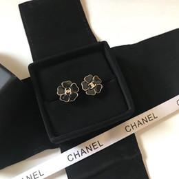 f7e985d30 Plastic flower stud earrings online shopping - 2019 new Luxuries designers  jewelry women brand earrings Black