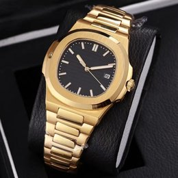 analog watches date 2019 - 2019 Top selling luxury high quality automatic Mechanical watch gold stainless steel nautilus men watches cheap analog w