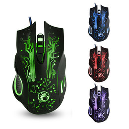 mouse for lol Australia - High quality X9 wired mouse gaming Mouse 2400dpi 6 kyes colorful e-sports LOL game mice for PC Laptop Macbook office with retail box