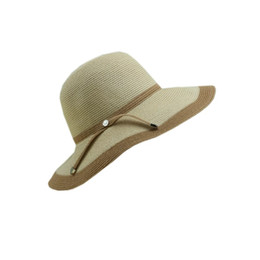 1de08e493345c Beach Woman Hat UK - New arrival Patchwork straw hat for women in summer  with wooden
