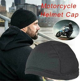 $enCountryForm.capitalKeyWord Australia - New Motorcycle Under Helmet Liner Hat Face Mask Men Women Breathable Quick Drying Moisture Wicking Helmet Skull Cap Beanie