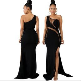 ef73aa7c1a0e See through lace night dreSS online shopping - 2019 Fashion Women Sheer Mesh  Patchwork Maxi Party