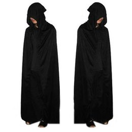 $enCountryForm.capitalKeyWord Australia - Halloween Decorations Black Halloween Costume Theater Prop Death Hoody Cloak Devil Long Mantle Wizard  Vampire Dress Smocks