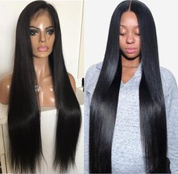 best hair wigs for black women Canada - 10A The Best Quality Full Lace Wigs Malaysian Virgin Human Hair Silky Straight Gluelss Lace Front Wigs for Black Woman Free Shippiing