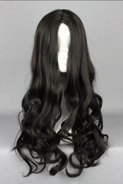 Unique Wigs Australia - WIG LL NEW STYLE Free >>>>>High Quality Unique Design 50cm long black Anime cosplay Costume Wig