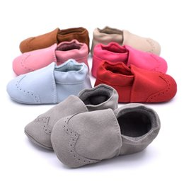 baby moccasins soft sole NZ - infant Baby Anti-slip First Walkers Little Boys Girls Moccasin Soft Sole Infant Shoes Warm Prewalkers Boots Baby Clothing Props