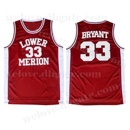 7e8a36af181 Kobe 33 Bryant Men s NCAA Lower Merion College Jersey Red White Bryant Basketball  Jerseys Cheap wholesale