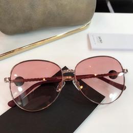 $enCountryForm.capitalKeyWord Australia - Design sunglasses - luxury lady sunglasses CH6028 oval metal large frame fashion size 59-14-145 with box