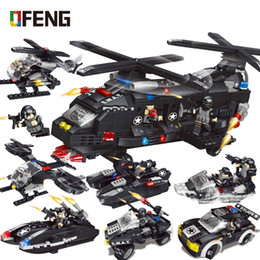 helicopter military UK - Military Swat Team Special Police Building Blocks Transport Helicopter Army Bricks Toys for Children Gift City Building Kits