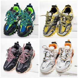 $enCountryForm.capitalKeyWord Canada - Mens BALENCIAGAbalenciaga Tess S. Triple TRACK.3 TRAINERS Dad designer shoes fashion luxury Sports Casual sneakers pink and blue mesh nylon