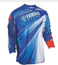 Quick Dry Shirts For Men Australia - Wholesale Motocross Jersey Downhil Mountain Bike DH Shirt MX Motorcycle Clothing Ropa FIT For yamaha Men Quick Dry MTB Y