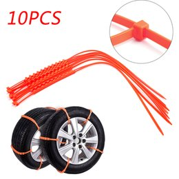 Areyourshop Car 10PC Snow Tire Chain Anti-Skid Belt For Car Truck SUV Emergency Winter Driving USA Auto Styling Autocross Outdoor on Sale