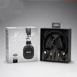 Iphone Ii Australia - Marshall Major II 2.0 Bluetooth Wireless Headphones in Black DJ Studio Headphones Deep Bass Noise Isolating headset for Samsung