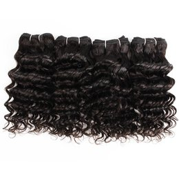 black hair weaving styles Canada - 4 Pcs Indian Deep Curly Hair Weave 50g pc Natural Color Black Cheap Human Hair Weave Extensions for Short Bob Style