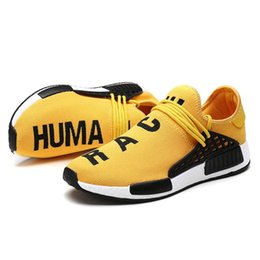 Chinese  2019 Cheap NMD Online Human Race 1.0 Wholesale Pharrell Williams X Sports Running Shoe discount Cheap Athletic mens Shoes manufacturers